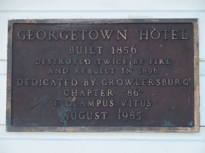Georgetown Hotel Marker image. Click for full size.