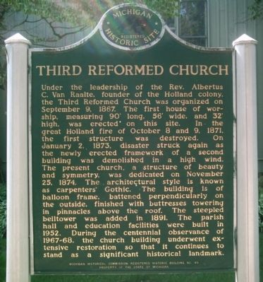 Third Reformed Church Marker image. Click for full size.