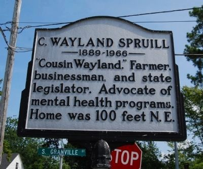 C. Wayland Spruill Marker image. Click for full size.