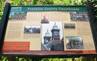 Franklin County Courthouse Marker image. Click for full size.