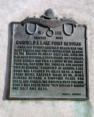 Garfield & Lake Point Resorts Marker image. Click for full size.