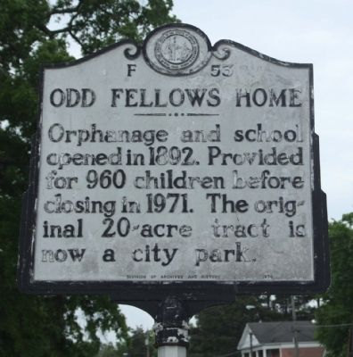 Odd Fellows Home Marker image. Click for full size.