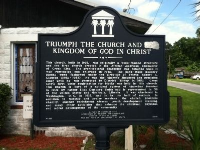 Triumph the Church and Kingdom of God in Christ Marker image. Click for full size.