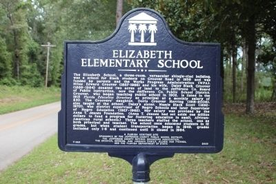 Elizabeth Elementary School Marker image. Click for full size.