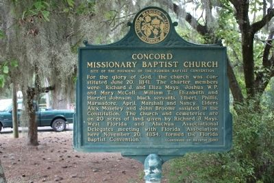 Concord Missionary Baptist Church Marker-Side 1 image. Click for full size.