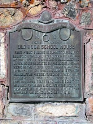 Old Rock School House Marker image. Click for full size.