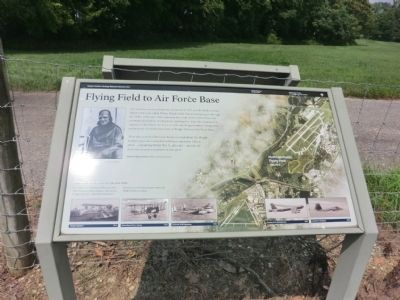 Flying Field to Air Force Base Marker image. Click for full size.