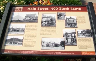Main Street, 400 Block South Marker image. Click for full size.