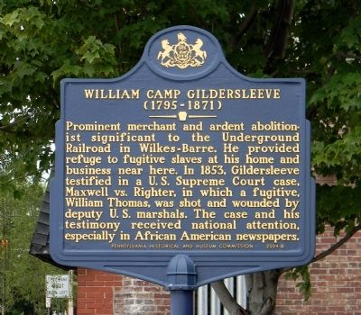 William Camp Gildersleeve Marker image. Click for full size.