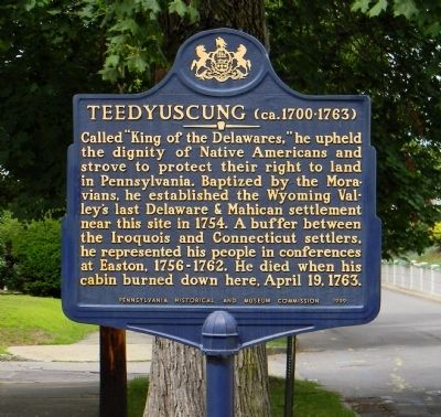 Teedyuscung Marker image. Click for full size.