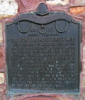 Old Fort and Hoyt Grist Mill Marker image. Click for full size.