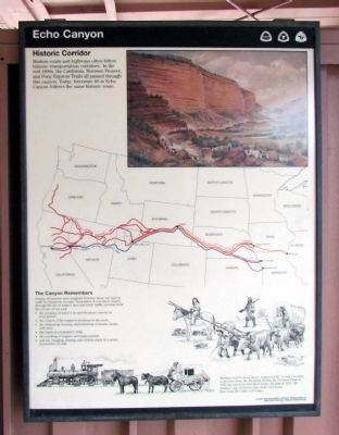 Echo Canyon Marker image. Click for full size.