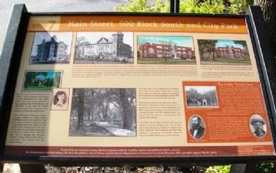 Main Street, 500 Block South and City Park Marker image. Click for full size.