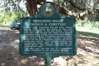 Townsend House Church & Cemetery Marker image. Click for full size.