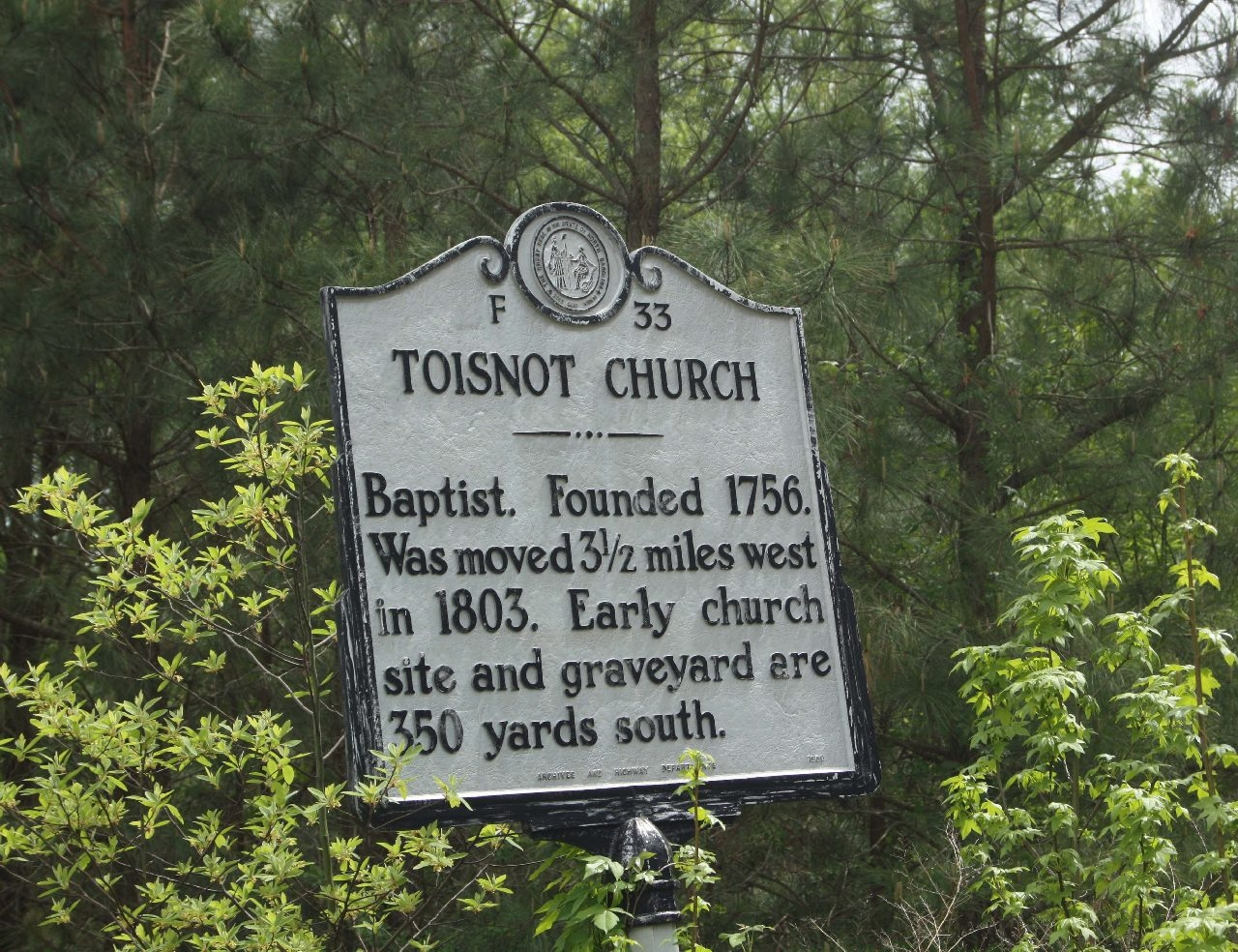 Toisnot Church Marker