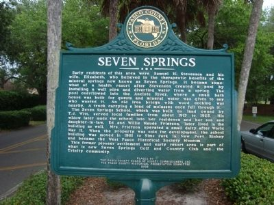 Seven Springs Marker image. Click for full size.