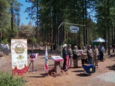 The Josephine Mine Cemetery Dedication image. Click for full size.
