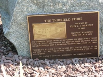 The Thirkield Store Marker image. Click for full size.