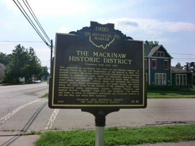 The Mackinaw Historic District Marker image. Click for full size.