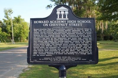 Howard Academy High School on Chestnut Street Marker image. Click for full size.