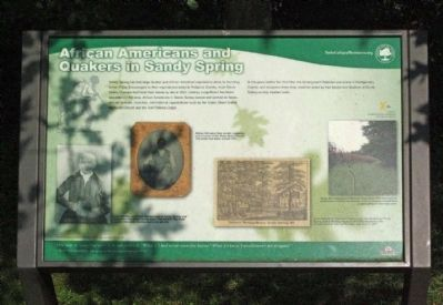African Americans and Quakers in Sandy Spring Marker image. Click for full size.