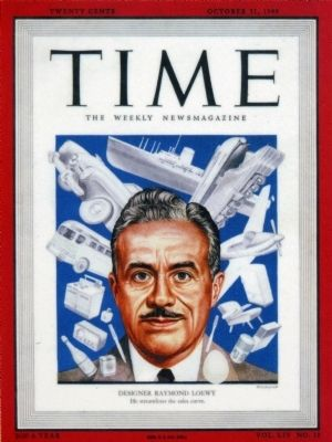 Raymond Loewy in <i>Time</i> image. Click for full size.