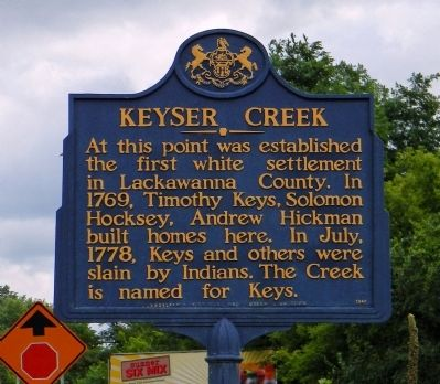 Keyser Creek Marker image. Click for full size.