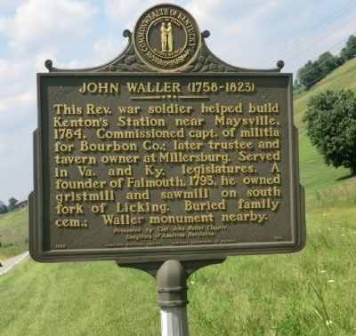 John Waller Marker image. Click for full size.