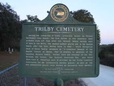 Trilby Cemetery Marker image. Click for full size.