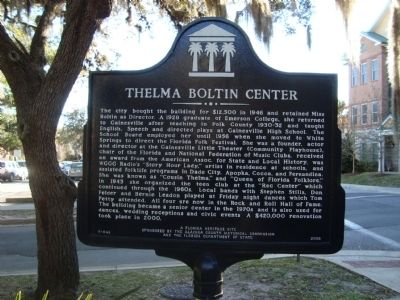 Thelma Boltin Center Marker image. Click for full size.