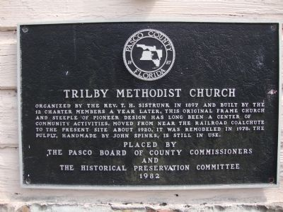 Trilby Methodist Church Marker image. Click for full size.
