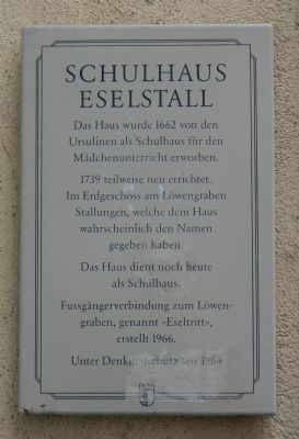 Schulhaus Eselstall Marker image. Click for full size.