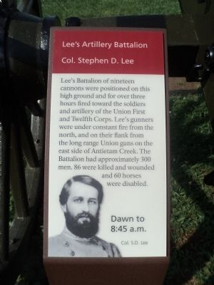 Lee's Artillery Battalion Marker image. Click for full size.
