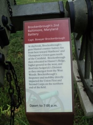 Brockenbrough's 2nd Baltimore, Maryland Battery Marker image. Click for full size.