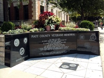 Piatt County Veterans Memorial Marker image. Click for full size.