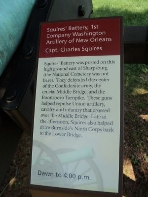 Squires' Battery, 1st Company Washington Artillery of New Orleans Marker image. Click for full size.