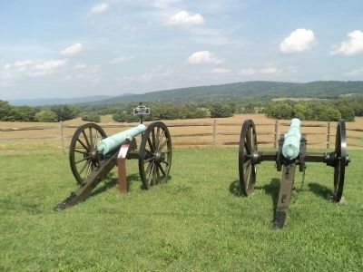 Marker on the Antietam Battlefield image. Click for full size.