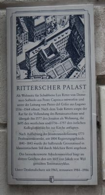 Ritterscher Palast Marker image. Click for full size.