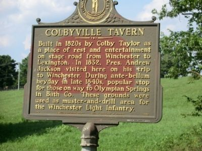 Colbyville Tavern Marker image. Click for full size.