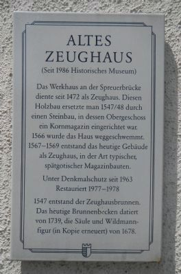 Altes Zeughaus Marker image. Click for full size.