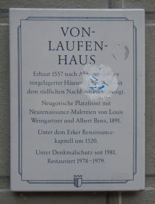 Von Laufenhaus Marker image. Click for full size.