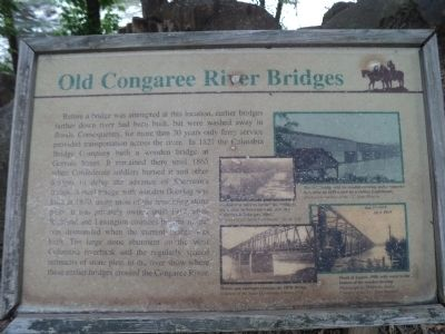 Old Congaree River Bridges Marker image. Click for full size.