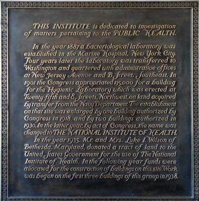 Plaque in the front foyer on Building 1 image. Click for full size.