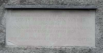 Louis Pfyffer von Wyher Marker image. Click for full size.