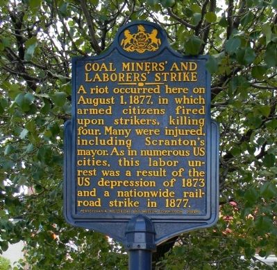 Coal Miners' and Laborers' Strike Marker image. Click for full size.