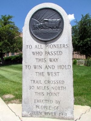Oregon Trail Memorial Marker image. Click for full size.