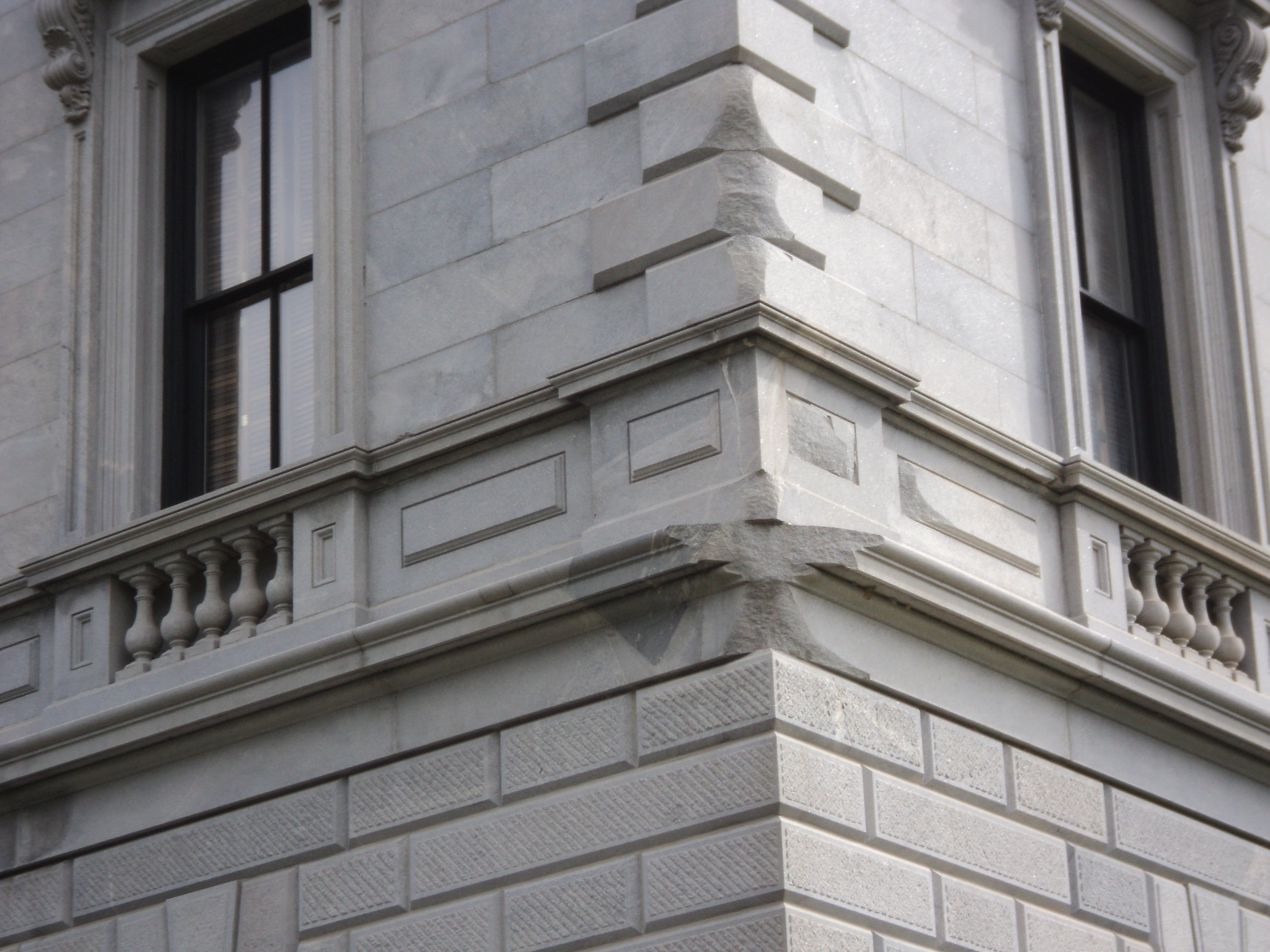 Damage on the S.C. State House