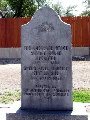 The Overland Stage Marker image. Click for full size.