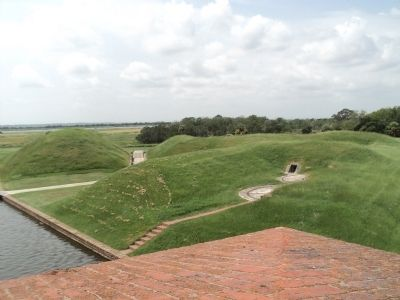 The Demilune from inside Fort Pulaski image. Click for full size.