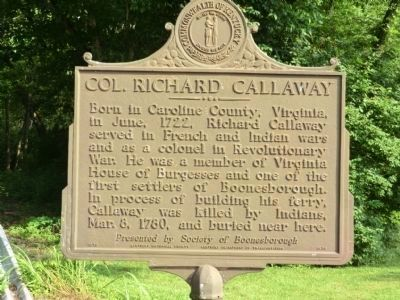 Col. Richard Callaway Marker image. Click for full size.